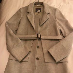 Nello gori J.Crew grey wool coat, size 4!